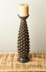 Manual Pinecone Candle Holder