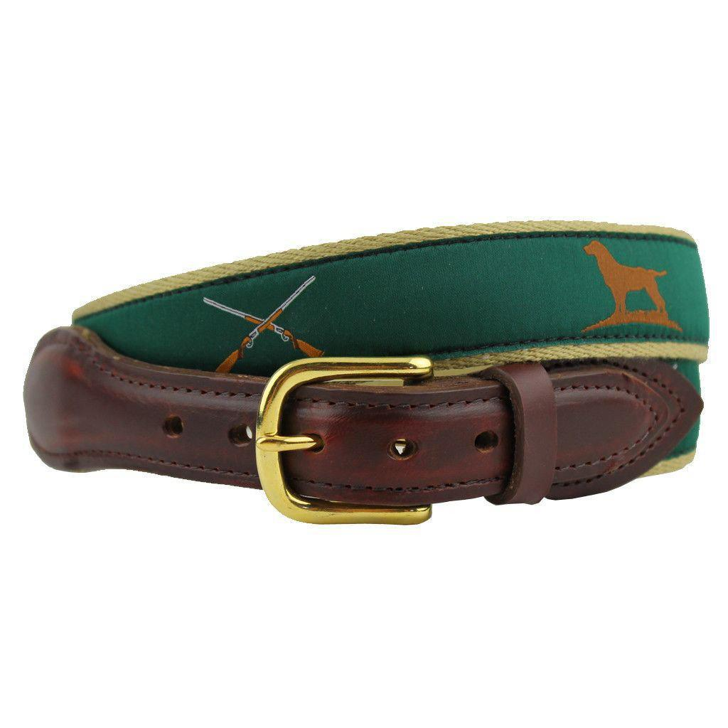 Over Under The Essentials Ribbed Belt Green 36