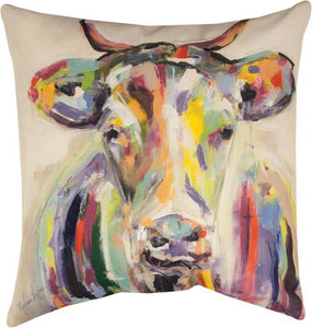 Manual Artsy Cow Pillow