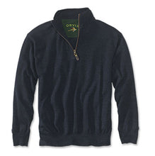 Load image into Gallery viewer, Orvis Merino Wool Zip Neck Sweater