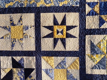 Load image into Gallery viewer, Kathy's Quilts Blue Yellow Flowers