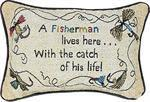 Manual A Fisherman Lives Here Pillow