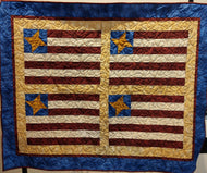 Kathy's Quilts Stars and Stripes Red Blue Gold