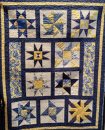 Kathy's Quilts Blue Yellow Flowers