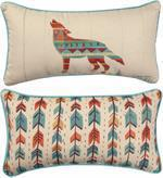 Manual Southwestern Vibe Wolf Pillow