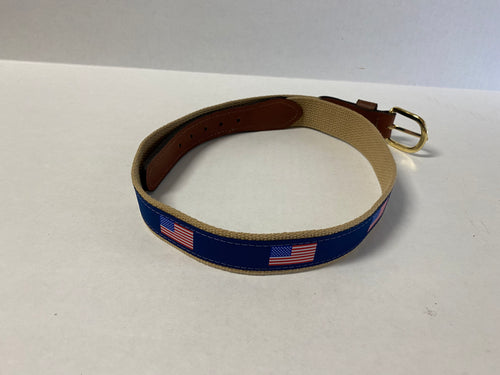 Zep Ribbon Belt  USA Flag