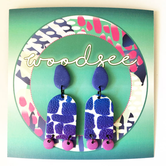 Eclectic Abstracts - Purple Dangles