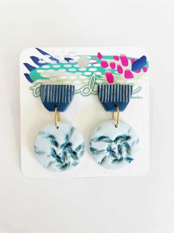 Coastal Vibes - Indigo Mini Dangles