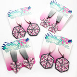 Cane Make This - Pink Polka Dot Blossom Dangles