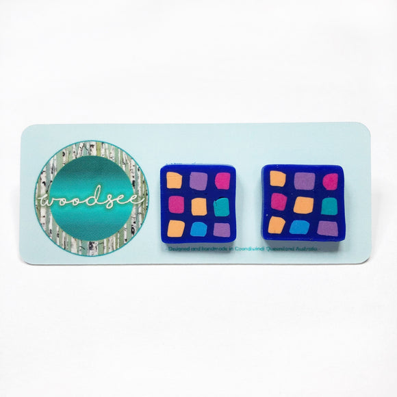 Cane Make This - Stain Glass Midi Studs