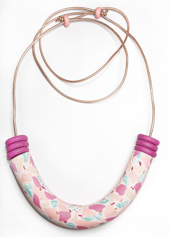 Terrazzo Explorations - Musk Tubular Necklace