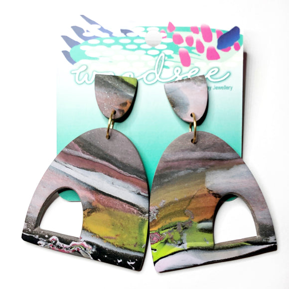 Eclectic Abstracts- Marble Arc Dangles