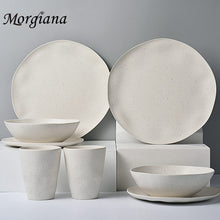 Load image into Gallery viewer, Morgiana  Upmark Bamboo Tableware Bactericidal Plate Dessert Food Dinner Dishe Unique Dining  Breakfast Sets Utensils Dinnerware