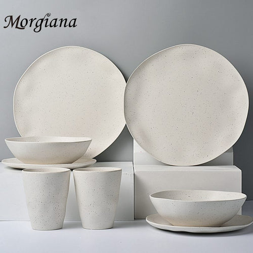 Morgiana  Upmark Bamboo Tableware Bactericidal Plate Dessert Food Dinner Dishe Unique Dining  Breakfast Sets Utensils Dinnerware