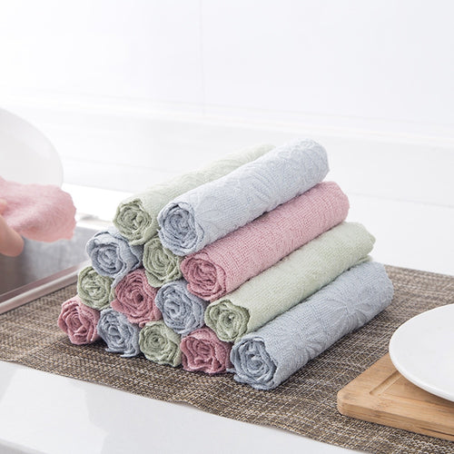 Kitchen Printing Absorbent Cloth Non-stick Oil Dish Towel Dish Cloth Hand Cleaning Towel Cleaning Cloth