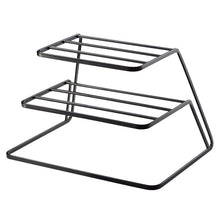 Load image into Gallery viewer, 2 Tier Dish Rack Stainless Steel Kitchen Dish Drainer Cup and Dish Organizer Kitchen Storage Organization Accessories