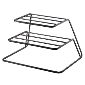 2 Tier Dish Rack Stainless Steel Kitchen Dish Drainer Cup and Dish Organizer Kitchen Storage Organization Accessories