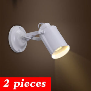 Wall Lamp Retro Industrial wall Light adjustable light sconce fixtures for Restaurant bedside Bar Cafe Home Lighting E27