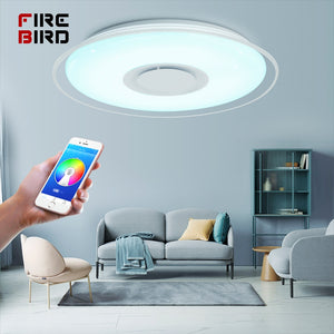 Modern LED Ceiling Lights home lighting 36W 52W RGB APP Bluetooth Music light bedroom lamps Living Room Smart ceiling lamp