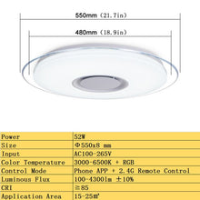 Load image into Gallery viewer, Modern LED Ceiling Lights home lighting 36W 52W RGB APP Bluetooth Music light bedroom lamps Living Room Smart ceiling lamp
