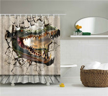 Load image into Gallery viewer, Elephant Octopus Owl Deer Horse Zebra Animals Printed Shower Curtains Bathroom Curtain With Hooks 180x180cm