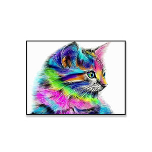 12977 Animal Small Cat Pattern Home Decoration HD Printed Wall Art Pictures Canvas Painting For Living Room Decals