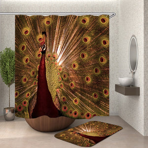 Horse shower curtain With Hooks  fabric Animal 3d bathroom shower curtains bathroom curtain hooks waterproof Curtain Or Mat