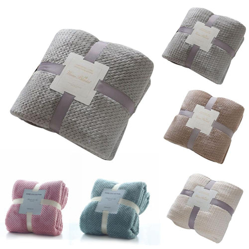 70.8×78.7 inches Flannel Fleece Throw Blanket Soft Blanket Solid Color Bedspread Plush Cover for Bed Sofa