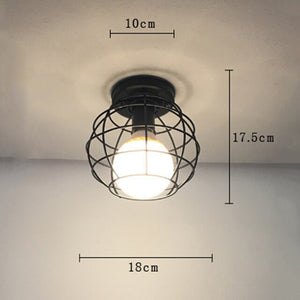 Country Ceiling Lamp Nordic Wrought Iron Retro Corridor Hallway Porch Balcony Ceiling Lamp Geometry