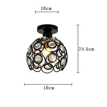 Load image into Gallery viewer, Country Ceiling Lamp Nordic Wrought Iron Retro Corridor Hallway Porch Balcony Ceiling Lamp Geometry