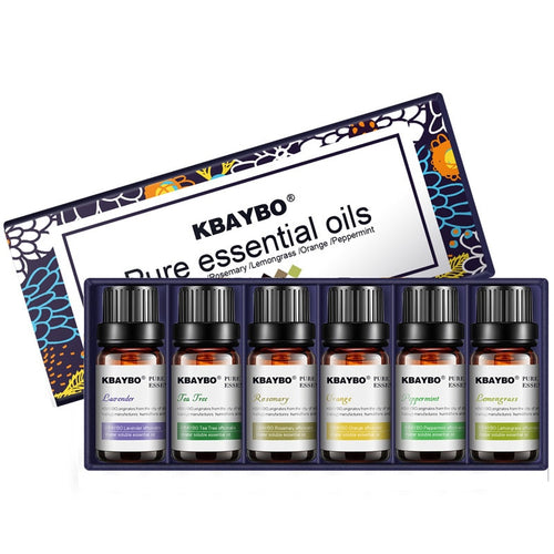 Essential Oil for Diffuser Aromatherapy Oil Humidifier 6 Kinds Fragrance of Lavender Tea Tree Rosemary Lemongrass Orange