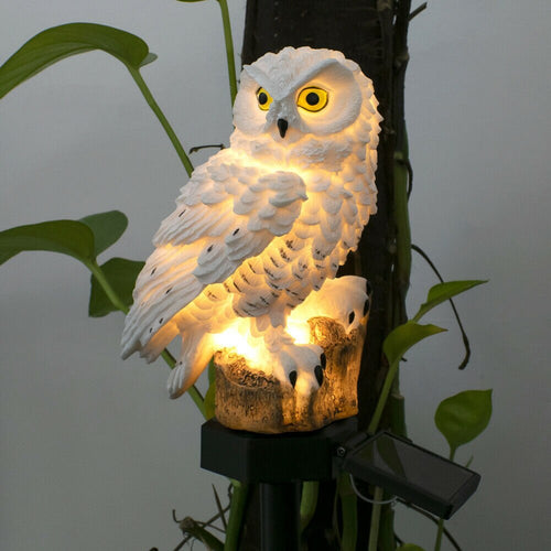 Fake Animal Ornament Outdoor Yard Garden Lamps Decor Simulation Owl Squirrel Solar Lawn Light Waterproof Solar LED Panel Lights