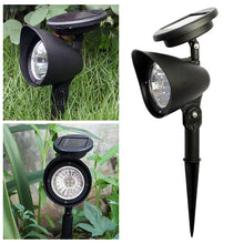 Load image into Gallery viewer, 4 LED Solar Lawn Spotlights Garden Lights Outdoor Waterproof Landscape Lighting Decorative Lights 2 Pack