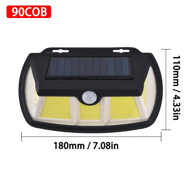 LED Solar Power Light Motion Sensor Wall Lighting Outdoor Garden Decoration lamp Stair Pathway Yard