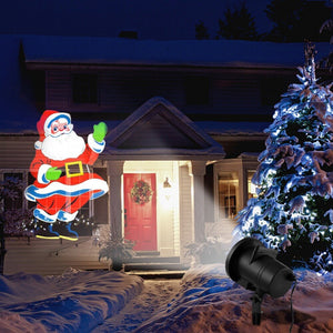 4 Pattern Lamp Plug-in Card Pattern Outdoors Lamp Led Christmas Lawn Lamp Christmas New Year Decorations  For Home Outdoor