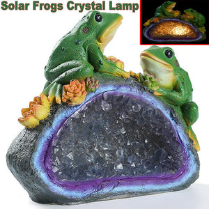 Solar Resin Lamp Frogs Crystal Lamp Garden View Lights Garden Landscape for Yard Lawn Lighting Outdoor Decorate
