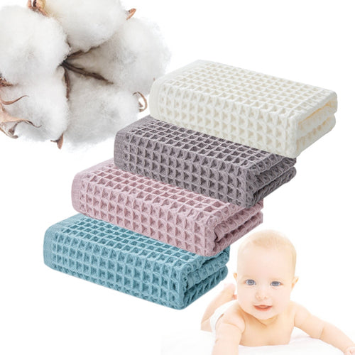 1 Pcs Solid Color Cotton Waffle Weave Towels Soft and Comfortable Absorbent Quick Drying Hand Towel Protect baby skin 4 colors
