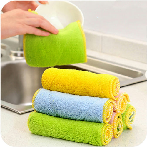 25*15cm 1PC Absorbent Microfiber Towel Home Kitchen Washing Clean Cloth Cleaning tools and Cloth