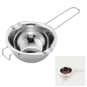 Creative Stainless Steel Water Bath Chocolate Pot Melting Water Heating Melting Pot Heating Cooking Bowl Kitchen Accessories Box