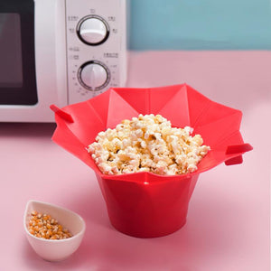 New Popcorn Microwave Foldable Red Silicone High Quality Kitchen Easy Tools DIY Popcorn Bucket Bowl Maker