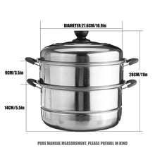 Load image into Gallery viewer, 28CM/30CM Stainless Steel pot Three layer Soup Pot Nonmagnetic Cooking Multi purpose Cookware Non stick Pan induction cooker pot