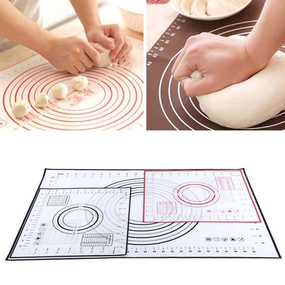 Non-Stick Silicone Baking Mat Pad Sheet Super Thick Baking Rolling Dough Pastry Cakes Bakeware Pad Mat Tools Environmental