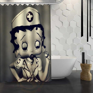 Custom Betty  Boop Shower Curtain Waterproof Fabric Shower Curtain for Bathroom WJY1.17