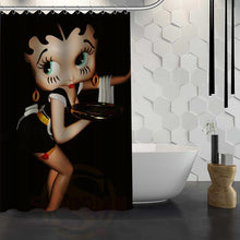 Load image into Gallery viewer, Custom Betty  Boop Shower Curtain Waterproof Fabric Shower Curtain for Bathroom WJY1.17
