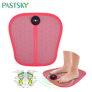 Unisex EMS Tens Acupuncture Foot Massager Muscle Stimulator Acupoint Mat Health Care Foot Massage Deep Kneading Shiatsu Therapy