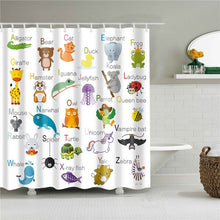 Load image into Gallery viewer, Decorative World Map Animals Shell Scenic Seaside Shower Curtains Bathroom Curtain Frabic Waterproof Polyester Home Decoration