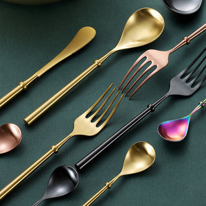 4PCS Set Stainless Steel Upscale Dinnerware Flatware Cutlery Fork Spoon New Arrival Dropshipping