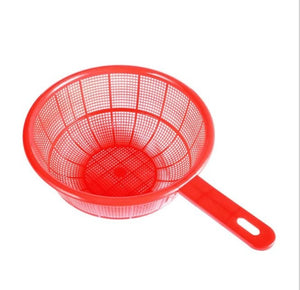 Plastic Colander Sieve Rice Washing Filter Strainer Basket Kitchen Tools Food Rice Grade Beans Sieve Fruit Bowl Drainer