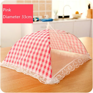 Kitchen Folded Food Cover Hygiene Grid Style Kitchen Food Dish Cover Kitchenware Dropshipping Apr29