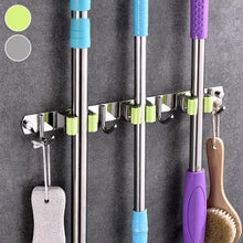 Load image into Gallery viewer, Broom Holder Heavy Duty Practical Clip Wall Mount Hook Stainless Steel Saving Organizer Laundry Room Mop Holder Storage Clip